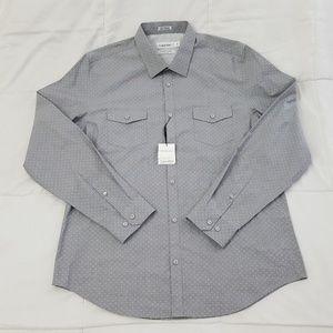 Calvin Klein Shirt Mens Large Gray Infinite Cool